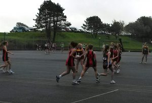 Y11 netball action